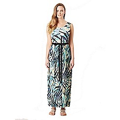 Celuu - Multicoloured 'Grace' tropical print maxi dress