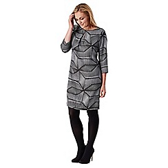 Celuu - Grey 'Sinead' print dress