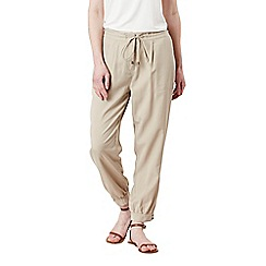 Celuu - Beige 'Eva' tencel cuffed trousers