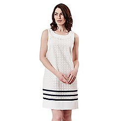 Celuu - Ivory 'Camilla' broderie shift dress