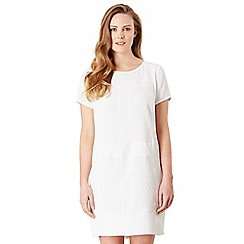 Celuu - Ivory 'Celine' panel shift dress