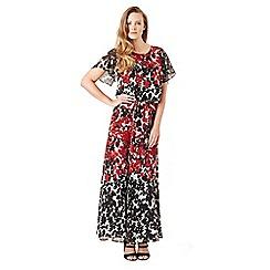 Celuu - Multicoloured 'Ivy' floral print maxi dress