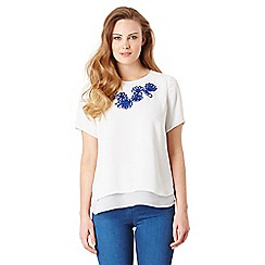 Celuu - Ivory 'Layla' embroidered top