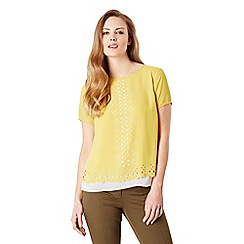 Celuu - Yellow 'Bea' laser cut top