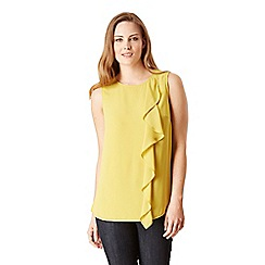 Celuu - Yellow 'Maya' drape front top