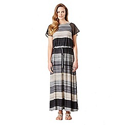 Celuu - Multicoloured 'Cordelia' stripe maxi dress
