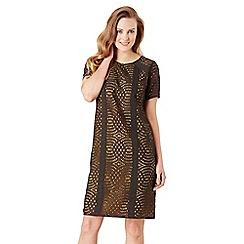 Celuu - Charcoal 'Lu' circle lace shift dress