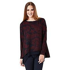 Celuu - Multicoloured 'Anya' split back blouse