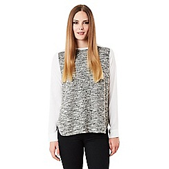 Celuu - Ivory 'Carey' boucle front top