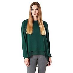 Celuu - Green 'Anya' split back blouse