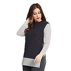 Celuu - Navy 'Claudia' knitted tunic