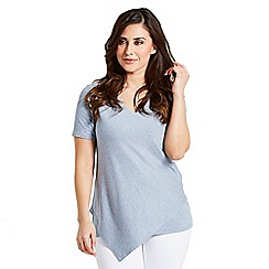 Celuu - Denim 'Juliana' asymmetric top