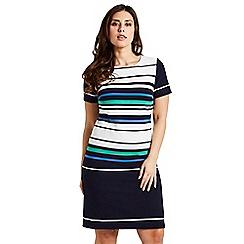 Celuu - Multi coloured 'Alexa' stripe shift dress