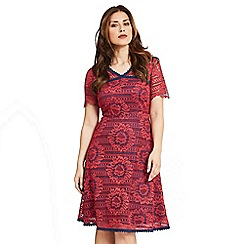 Celuu - Red 'Natasha' two-tone lace dress