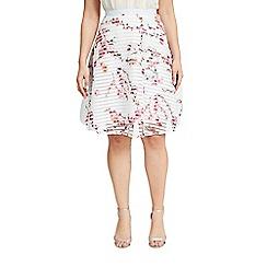 Celuu - 'Multicoloured 'Dahlia' floral skirt