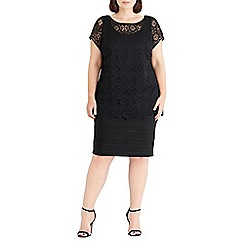 Live Unlimited - Black lace overlay dress