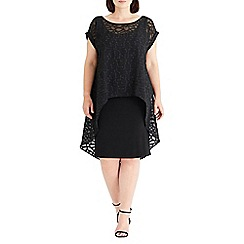 Live Unlimited - Black burnout chiffon overlay dress