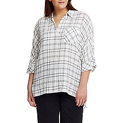 Live Unlimited - Check oversized blouse