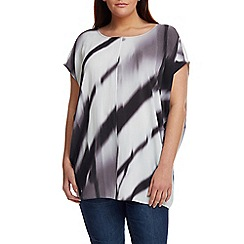 Live Unlimited - Blurred print cocoon top