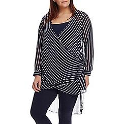 Live Unlimited - Stripe wrap blouse