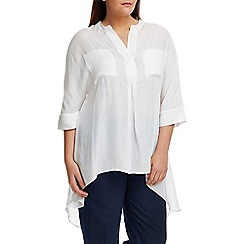 Live Unlimited - White chambray oversized blouse