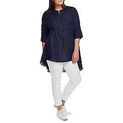 Live Unlimited - Navy chambray oversized blouse