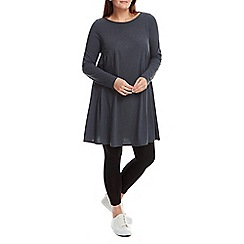 Live Unlimited - Grey slub jersey smock dress