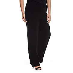Live Unlimited - Wide leg black trouser with self stripe