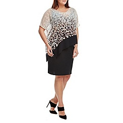 Live Unlimited - Ombre animal overlay dress