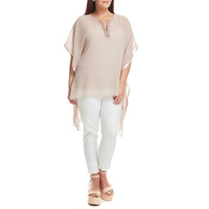 Live Unlimited Blush kaftan with beaded trim
