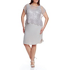 Live Unlimited - Silver lace overlay dress