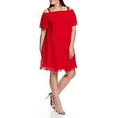 Live Unlimited - Red bardot swing dress