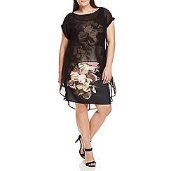 Live Unlimited - Floral Printed Overlay Dress