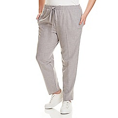 Live Unlimited - Grey cross hatch relaxed trousers