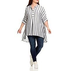 Live Unlimited - Denim stripe oversized blouse