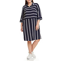 Live Unlimited - Mixed stripe shirt dress