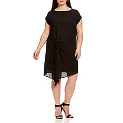 Live Unlimited - Black side hitch woven dress