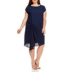 Live Unlimited - Navy side hitch woven dress