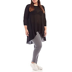 Live Unlimited - Dropped back black knit top