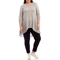 Live Unlimited - Dropped back grey knit top