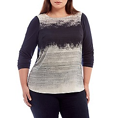 Live Unlimited - Block stripe satin front with jersey back t-shirt