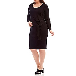 Live Unlimited - Black tie side jersey layered dress