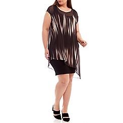 Live Unlimited - Side pleat chiffon overlay dress