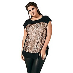 Live Unlimited - Rose gold sequin t-shirt