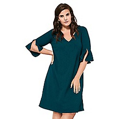 Live Unlimited - Kingfisher bell sleeves crepe dress