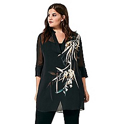 Live Unlimited - Bamboo floral placement blouse