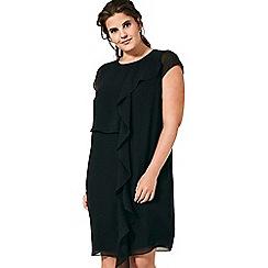 Live Unlimited - Black frill front dress