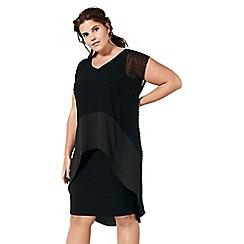 Live Unlimited - Black dobby overlay dress