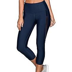Lorna Jane - Navy 'Exertion' core 7/8 leggings