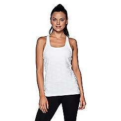 Lorna Jane - White 'Extremity' excel tank top